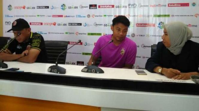 Pelatih Sriwijaya FC, Rahmad Darmawan dan Hamka Hamzah