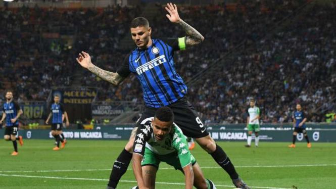 Duel Inter Milan vs Sassuolo.