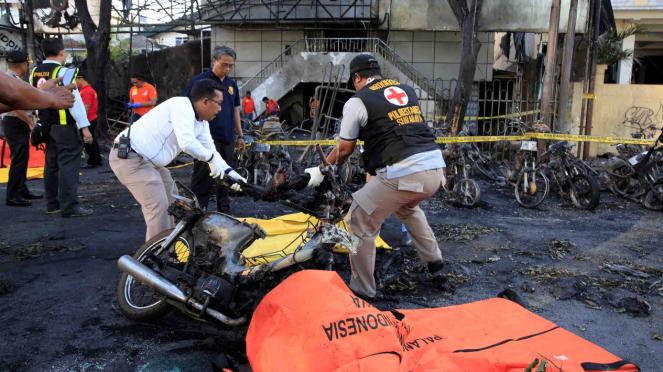 Korban bom bunuh diri di gereja Surabaya.