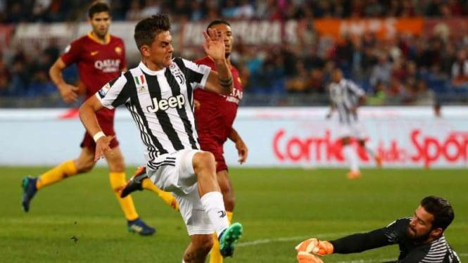 Duel AS Roma vs Juventus.
