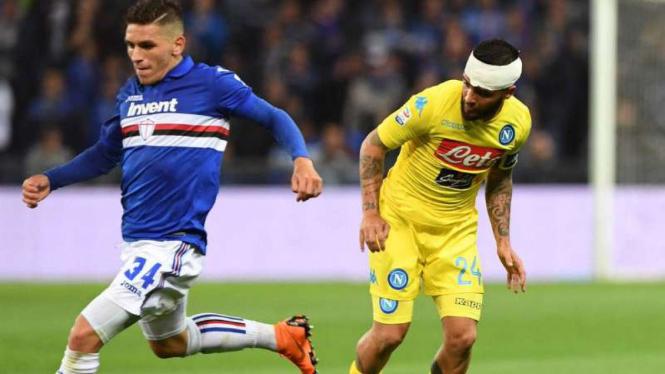 Duel Sampdoria vs Napoli.