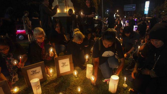Aksi Solidaritas Korban Bom di Surabaya beberapa waktu lalu. Aksi serupa akan digelar di Kota New York AS.