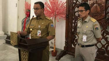 Gubernur DKI Jakarta Anies Baswedan dan Wakil Gubernur Sandiaga Uno.