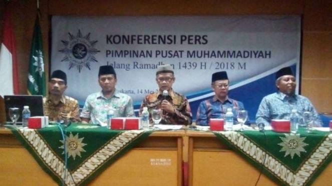 Konpers DPP Muhammadiyah soal penetapan 1 Ramadan.