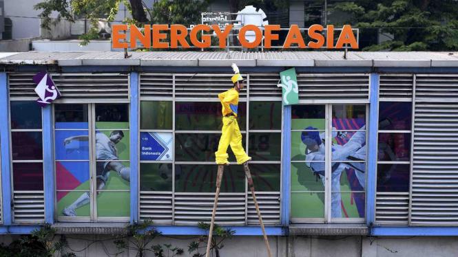 Parade Asian Games 2018 di Jalan MH Thamrin, Jakarta