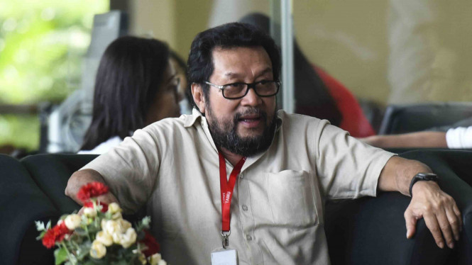 Yorris Raweyai saat menjalani pemeriksaan di gedung KPK, Jakarta