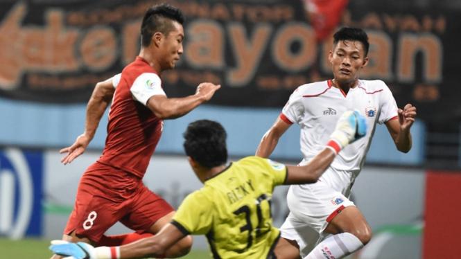 Pertandingan Home United vs Persija Jakarta