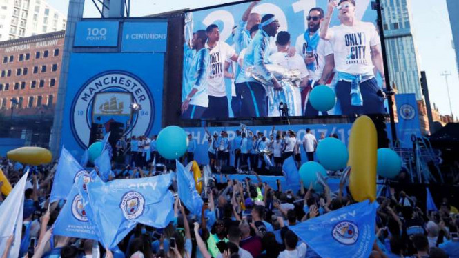 Parade gelar juara Premier League.