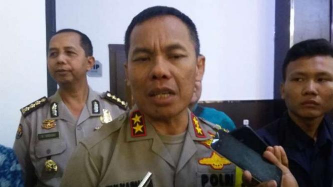 Kepala Polda Sumatra Selatan Inspektur Jenderal Zulkarnain Adinegara, di Palembang pada Selasa 15 Mei 2018.