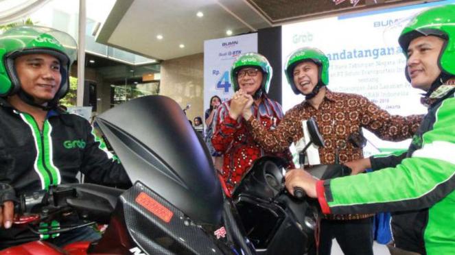 Kerja sama BTN dan Grab Indonesia.