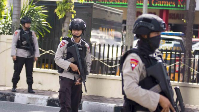 Ilustrasi penyerangan kantor polisi