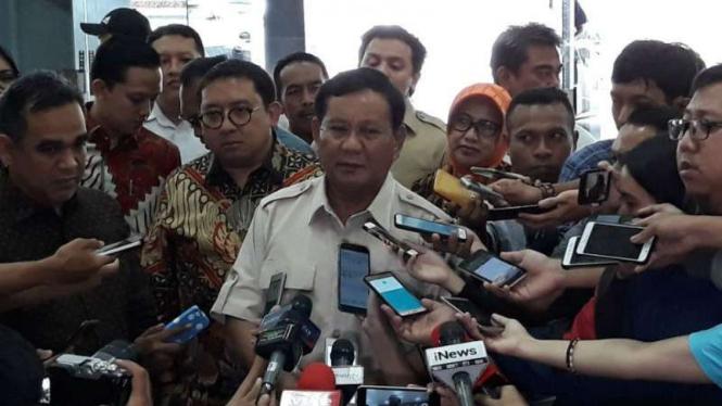 Prabowo Subianto di Gedung DPR