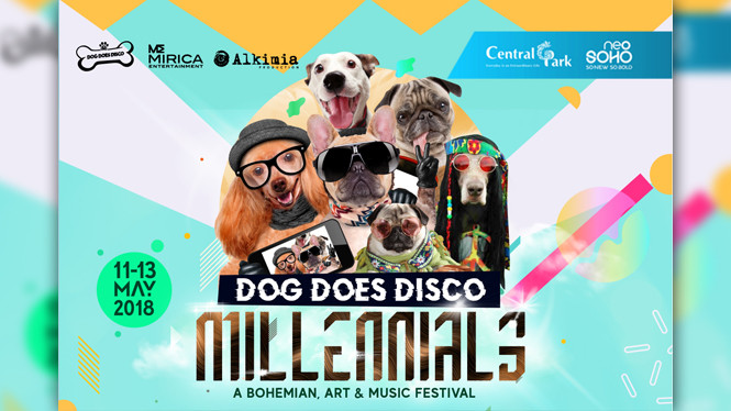 Dog Does Disco dengan tajuk Millennials 'A Bohemian, Art & Music Festival'