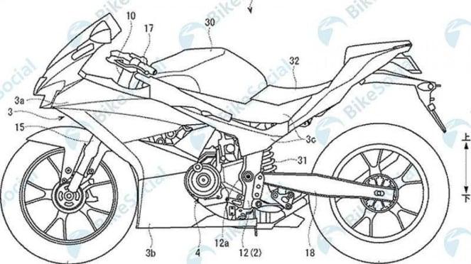 Skema hak paten motor baru Suzuki