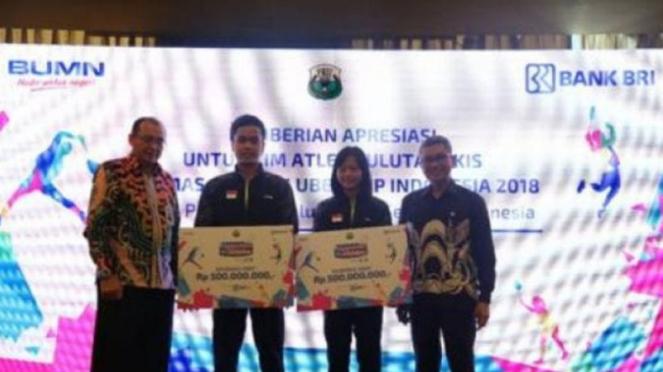 Asuransi BRI Life untuk Tim Thomas Cup dan Uber Cup Indonesia 2018.