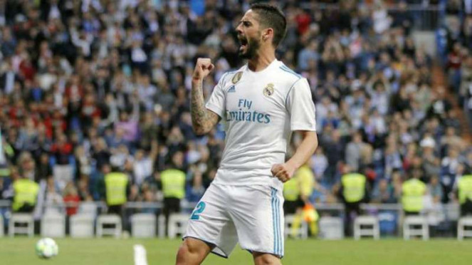 Gelandang Real Madrid, Isco.