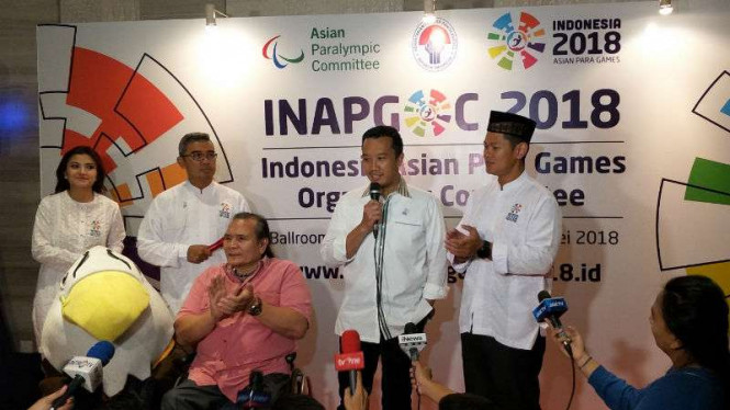 Konferensi pers Asian Para Games 2018.