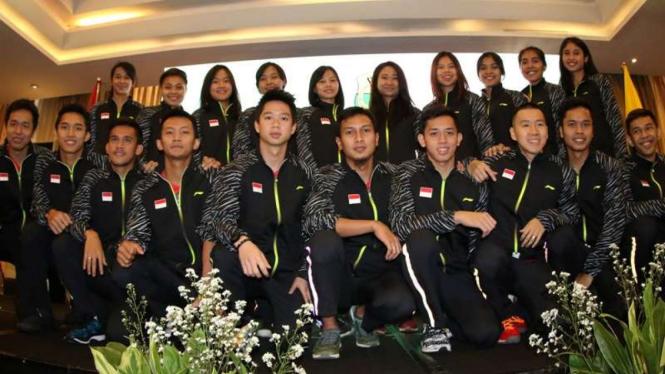 Tim bulutangkis Indonesia di ajang Piala Thomas dan Uber 2018