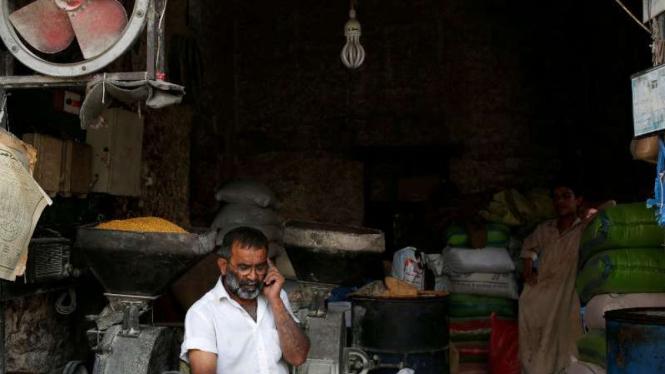 Pedagang di Karachi, Pakistan