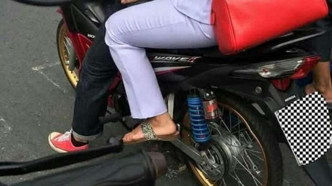 Modifikasi unik motor Honda