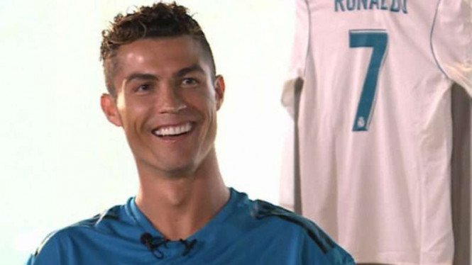 Megabintang Real Madrid, Cristiano Ronaldo.