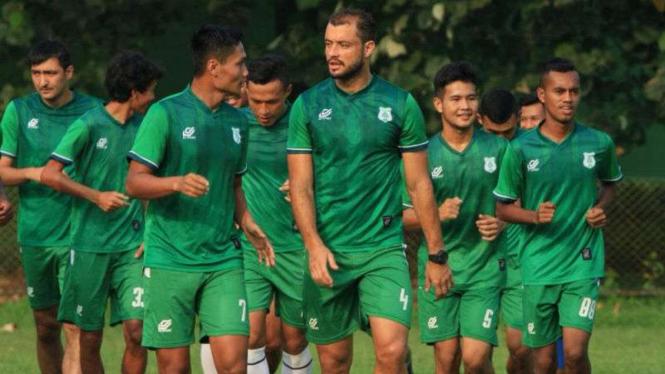 Para pemain PSMS Medan.