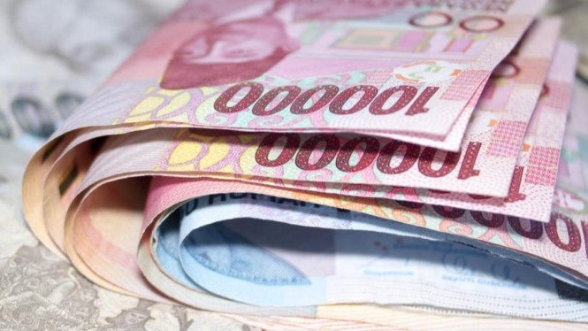 Ilustrasi uang THR.