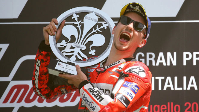 Jorge Lorenzo Juarai MotoGP Italia 2018.