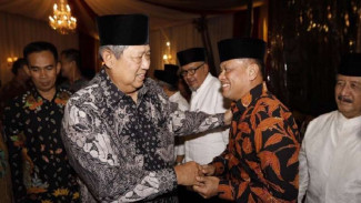 Ketua Umum Partai Demokrat, Susilo Bambang Yudhoyono bertemu Gatot Nurmantyo