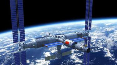Render Stasiun Antariksa China.