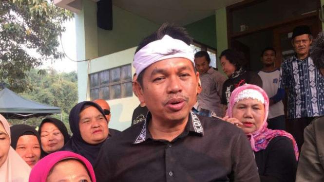 Calon wakil gubernur Jawa Barat, Dedi Mulyadi, di Bandung pada Selasa, 5 Juni 2018.