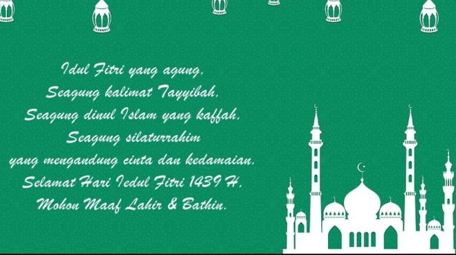 Salah satu kartu ucapan Hari Raya Idul Fitri.