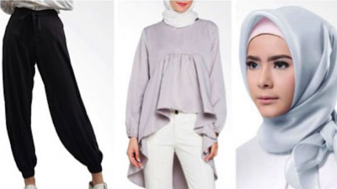 Ilustrasi gaya casual dan effortless berhijab