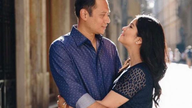 Agus Harimurti Yudhoyono dan Annisa Pohan.