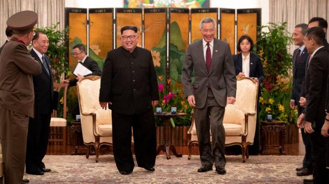 Kim Jong Un dan Lee Hsien Loong