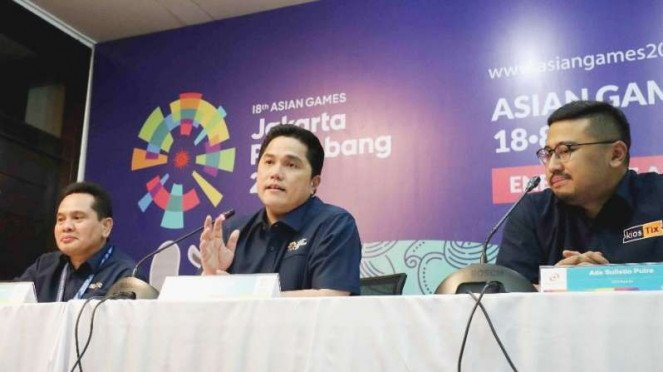 Konferensi pers Ticketing Asian Games 2018