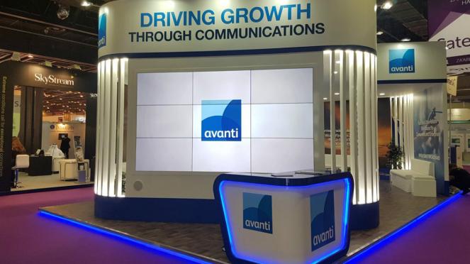 Booth Avanti dalam sebuah pameran