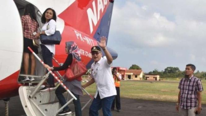 Sekda Jateng Sri Puryono, peresmian terbang perdana Nam Air Semarang-Karimunjawa