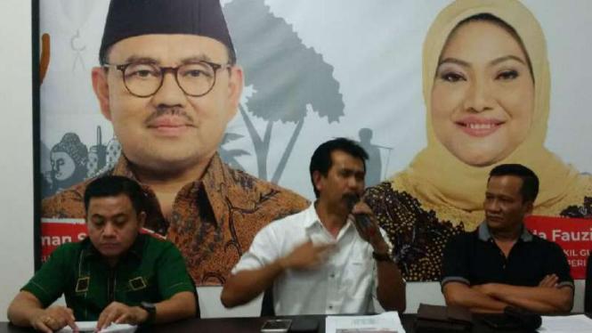 Juru Bicara Tim Pemenangan Sudirman-Ida, Sriyanto Saputro, di Semarang pada Senin, 11 Juni 2018.