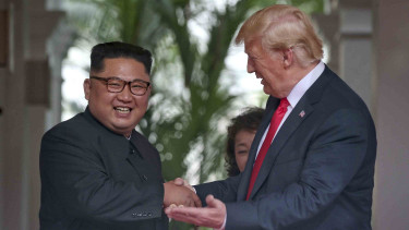 Pertemuan Donald Trump dan Kim Jong-un di Singapura