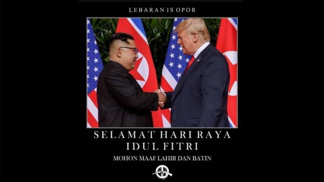 Meme lucu Trump-Jong Un