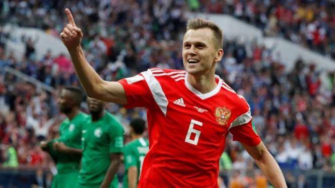 Bintang kemenangan Timnas Rusia, Denis Cheryshev