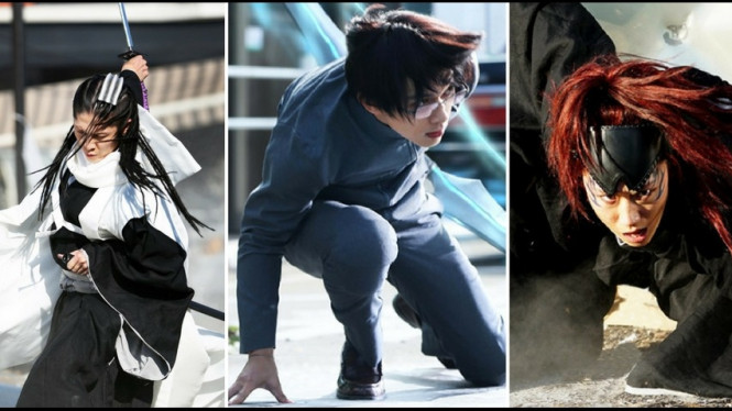 Byakuya, Ishida, Renji.