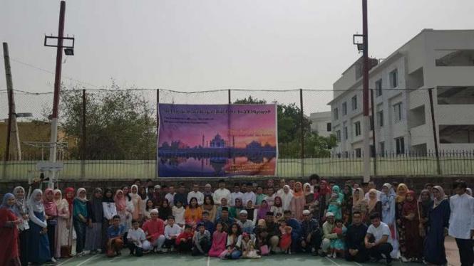Para WNI merayakan Idul Fitri di India