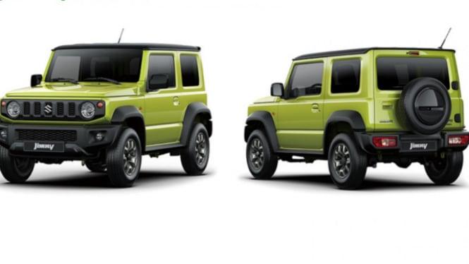 Wujud Suzuki Jimny terbaru.