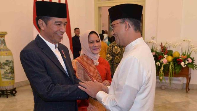 Presiden Jokowi dan Anies Baswedan