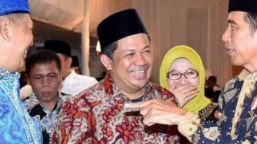 Fahri Hamzah bersama Presiden Jokowi.