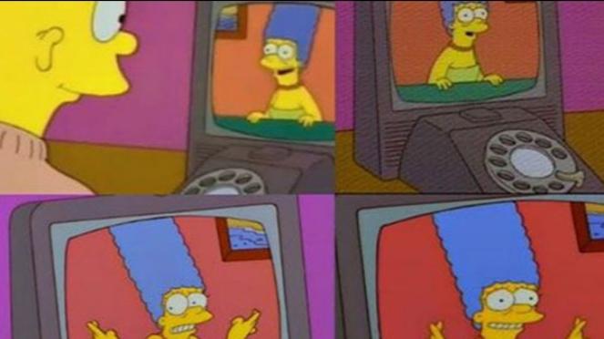 Simpsons memprediksi FaceTime.