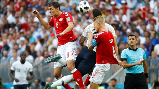 Pertandingan Denmark vs Prancis di Piala Dunia 2018