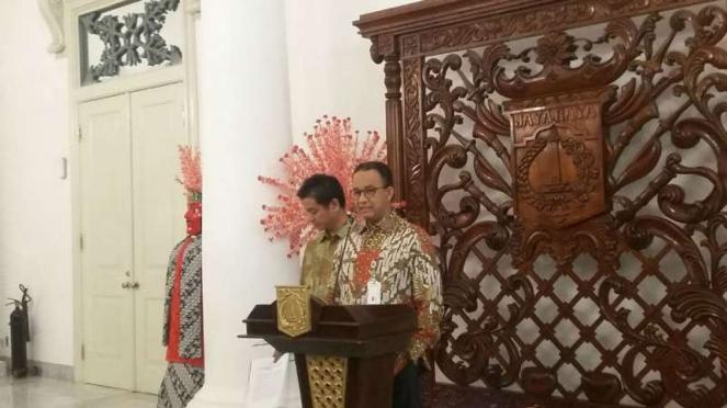 Gubernur DKI Jakarta Anies Baswedan di Balai Kota DKI, Kamis, 28 Juni 2018.